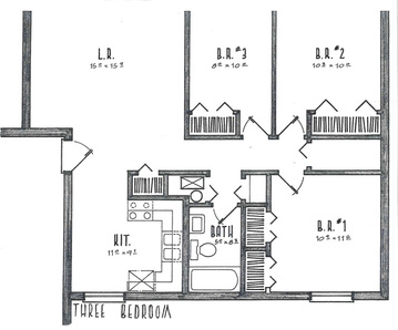 Three Bedrooms
